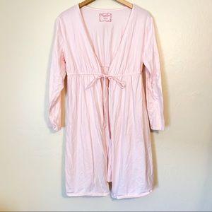 Motherhood Maternity Robe Light Pink Large